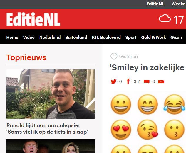 Smiley in zakelijke mail is onprofessioneel – RTL – EditieNL