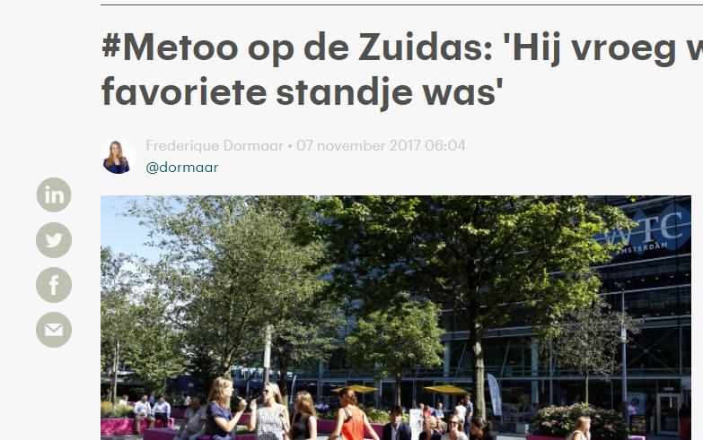 #Metoo op de Zuidas: 'Hij vroeg wat mijn favoriete standje was' – RTLz