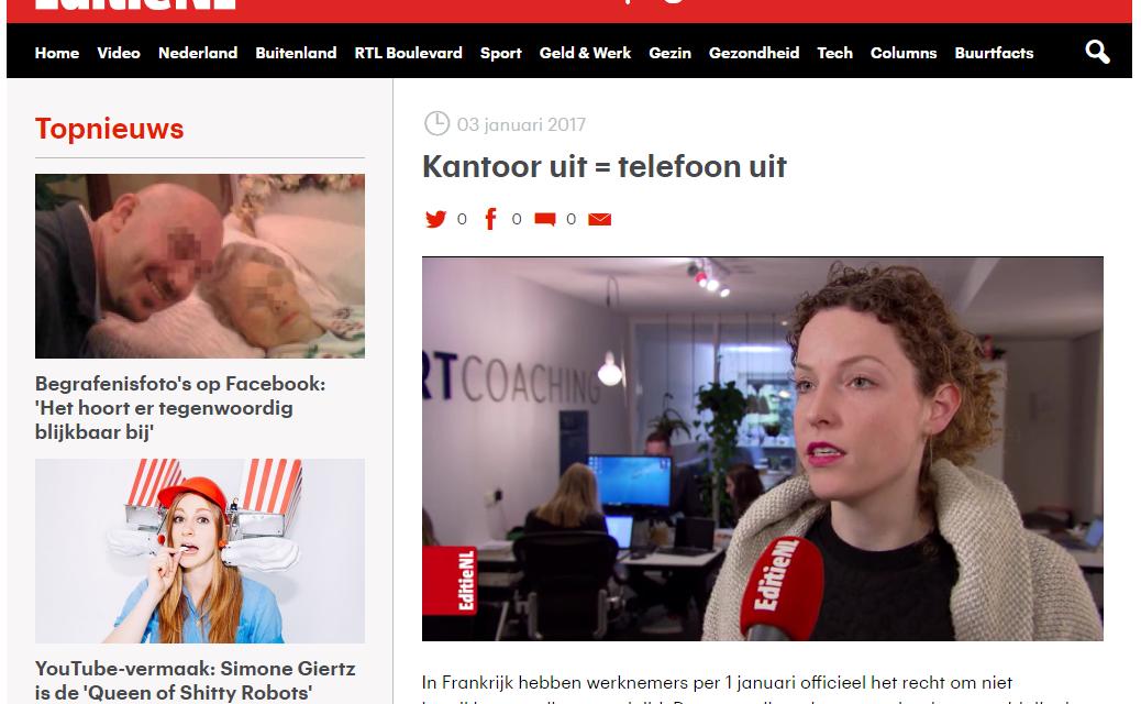 Kantoor uit is Telefoon uit – EditieNL – RTL