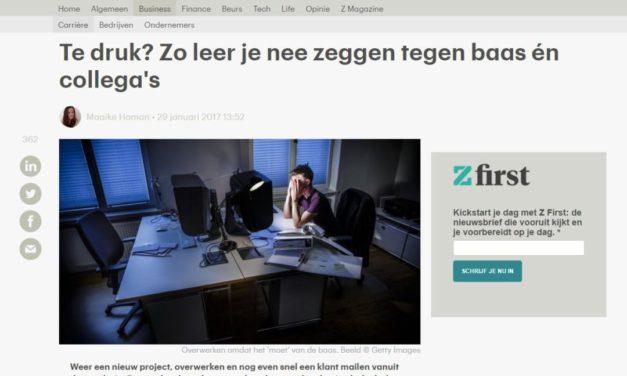 Leer nee zeggen bij drukte – RTL Z