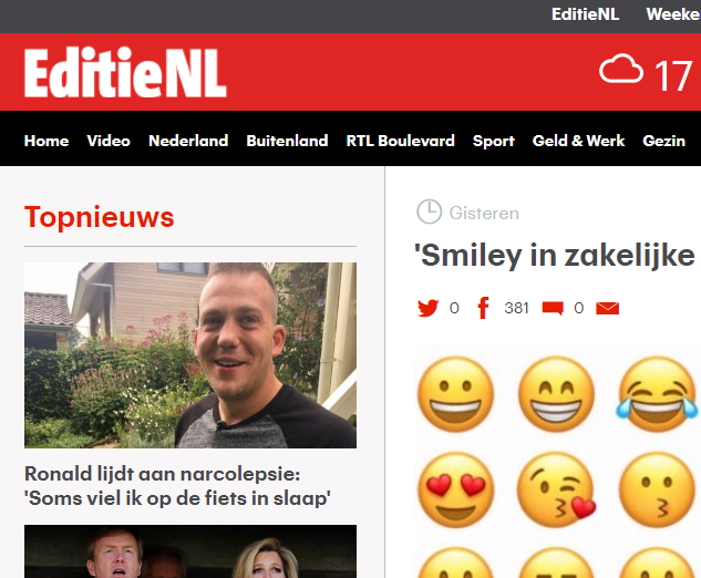 Smiley in zakelijke mail is onprofessioneel – RTL – EditieNL
