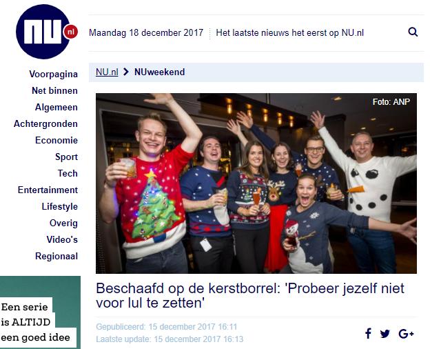 NU.nl – Beschaafd op de kerstborrel