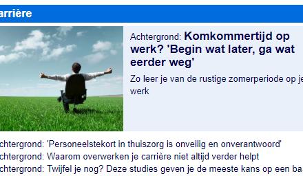 Nu.nl – Komkommertijd op werk?