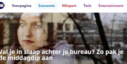 NU.nl – Val je in slaap achter je bureau? Zo pak je de middagdip aan